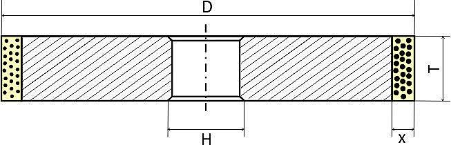 Круги алмазные шлифовальные прямого профиля - Форма 1А1 (АПП)