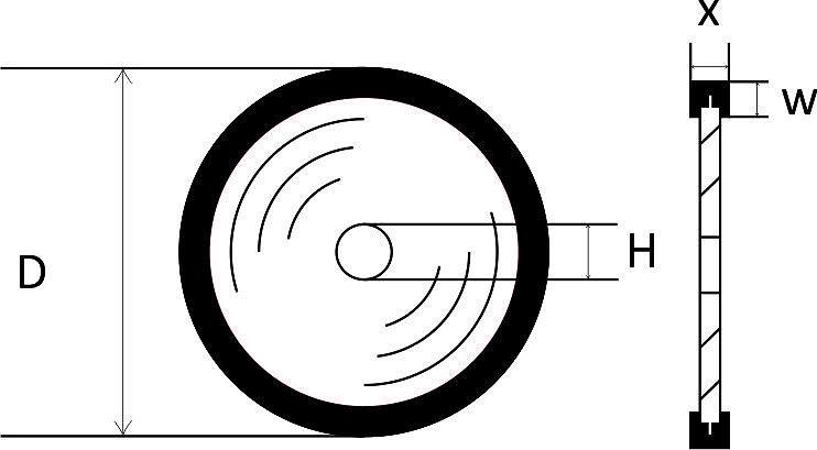 Отрезной алмазный круг 1A1R